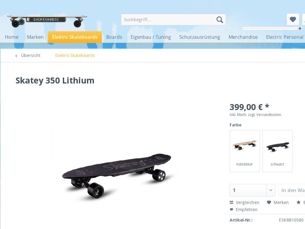 Skatey 350 Lithium Elektro