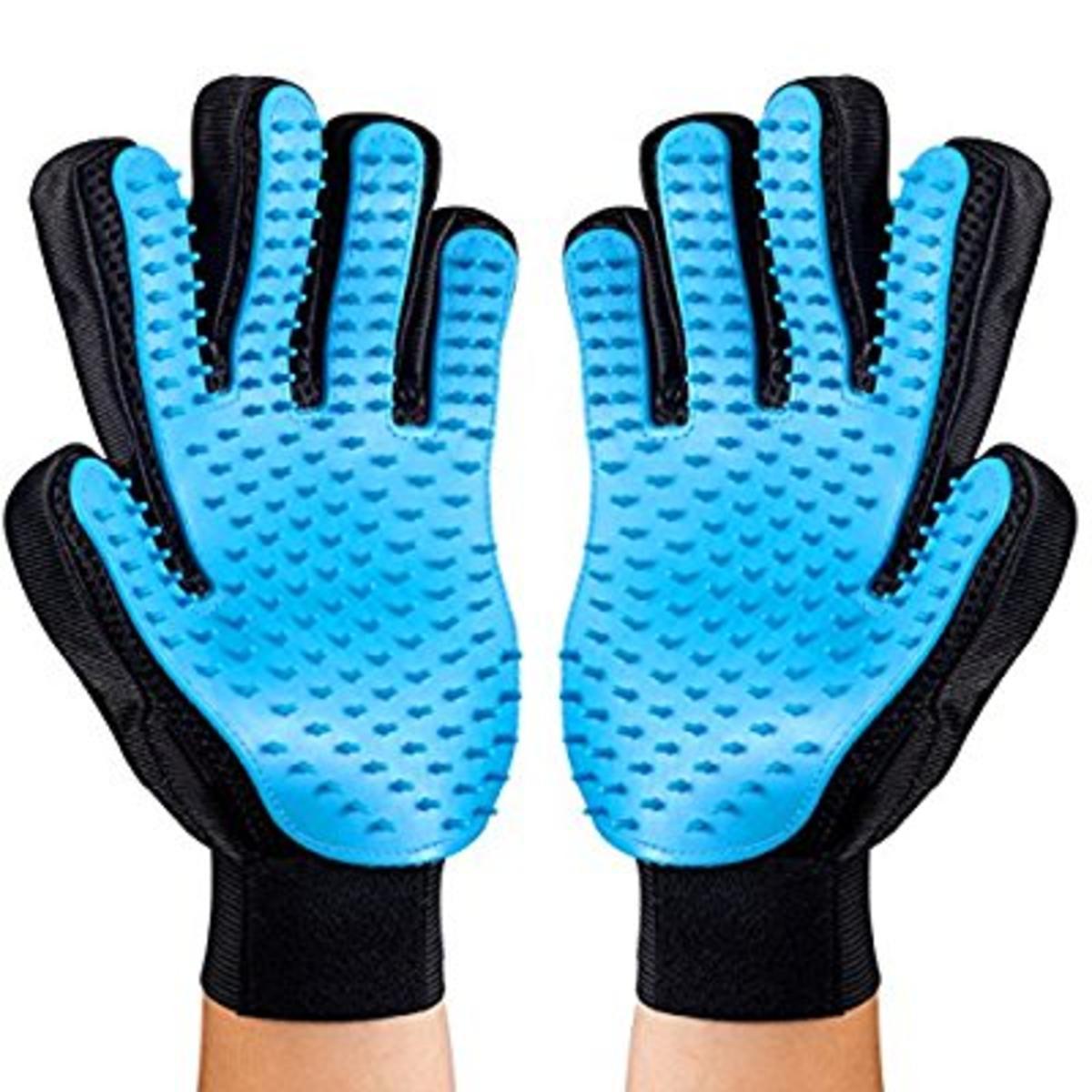 2PCS Pet Bürste Handschuh【Aufgerüstete