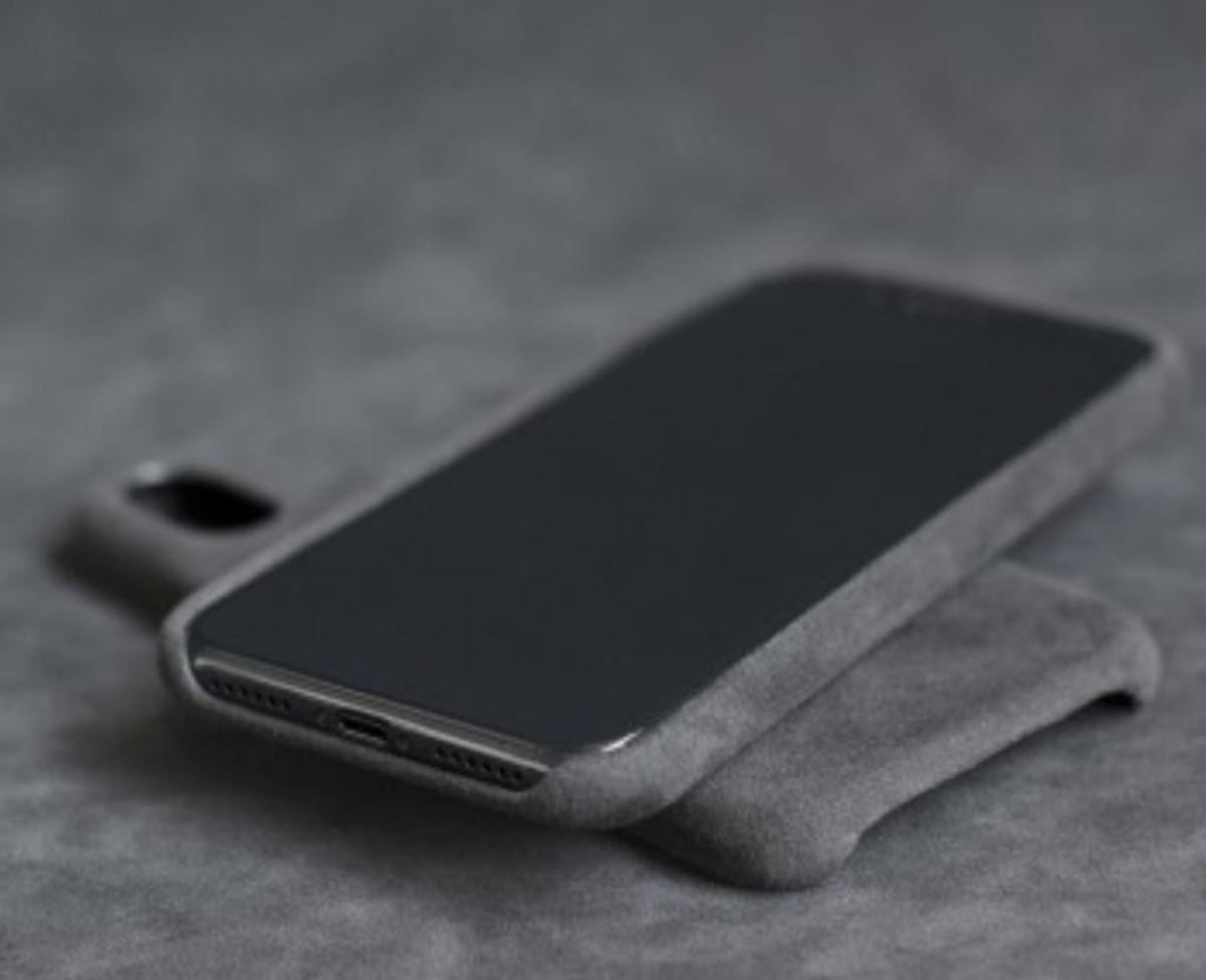 Alcantara Grey Case for