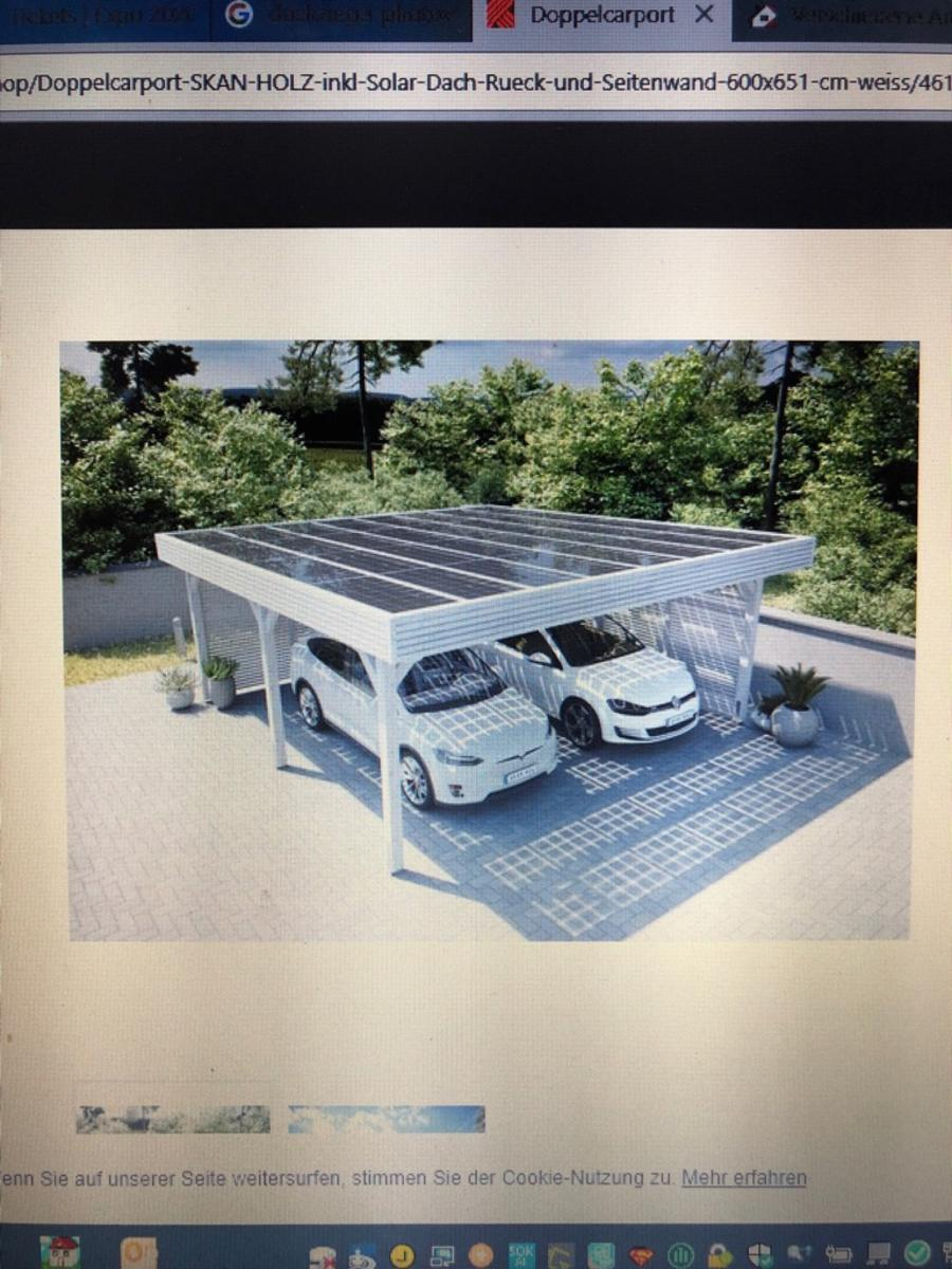 Doppelcarport Hornbach mir Solar